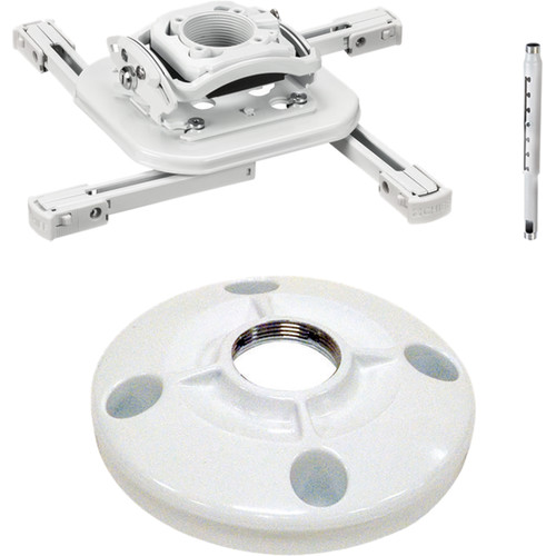 "Chief Projector Ceiling Mount Kit with Universal Mount, 18-24"" Adjustable Extension Column, and 6"" Ceiling Plate (White)"