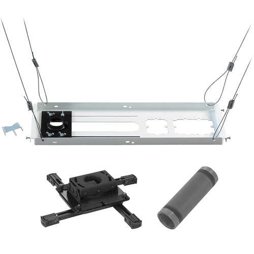 "Chief Inverted LCD/DLP Projector Ceiling Mount with 6"" Extension Column & Suspended Ceiling Kit (Black)"