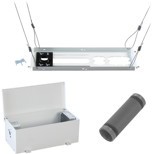 """Chief Speed-Connect Suspended Ceiling Kit, In-Ceiling Storage Box, and 6"""" Extension Column Bundle"""