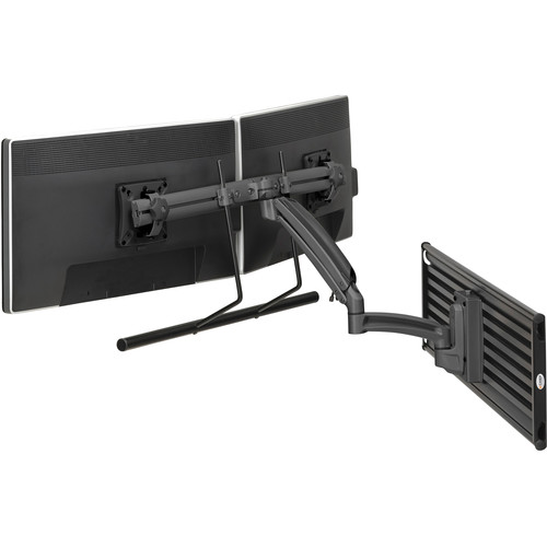 Chief Kontour K1S22HS Dynamic Height Adjustable Slatwall Mount for Dual Monitors (Silver)