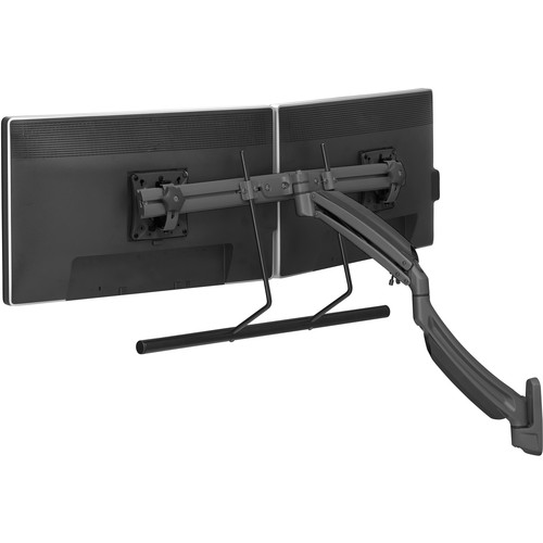 Chief Kontour K1W22HB Dynamic Height Adjustable Wall Mount for Dual Monitors (Black)
