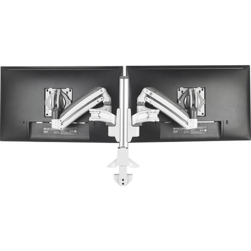 Chief KX Column Desk Mount Dual 2L Arms (White)