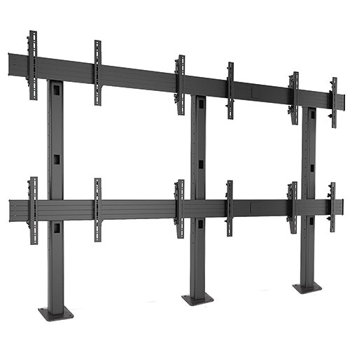 Chief FUSION 3 x 2 Micro-Adjustable Large Bolt-Down Freestanding Video Wall (Black)