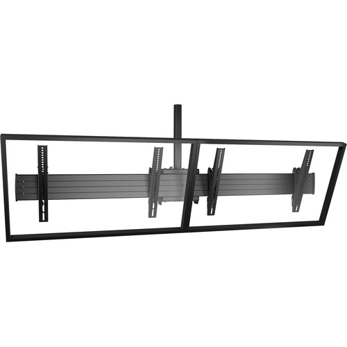 Chief FUSION Large Ceiling-Mounted 2 x 1 Menu Board Mount (Black)