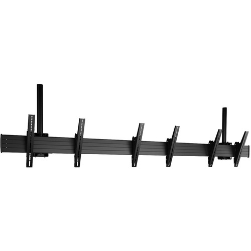 """Chief FUSION Large 3 x 1 Ceiling-Mountable Menu Board Mount for 40 to 55"""" Displays (Black)"""