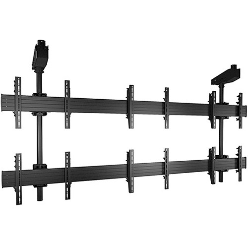 Chief FUSION Micro-Adjustable Large Ceiling Mounted Video Wall Solution (3 x 2 / Black)