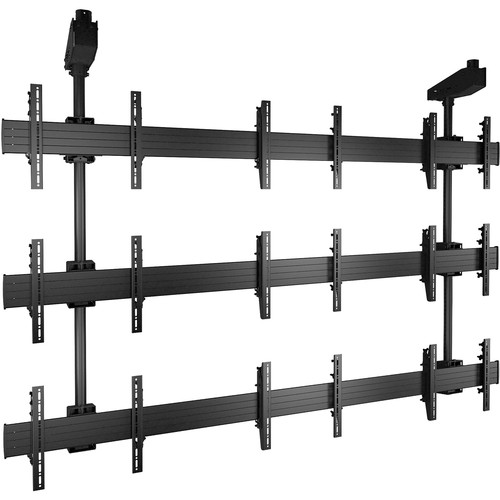 Chief FUSION 3 x 3 Micro-Adjustable Large Ceiling-Mounted Video Wall (Black)