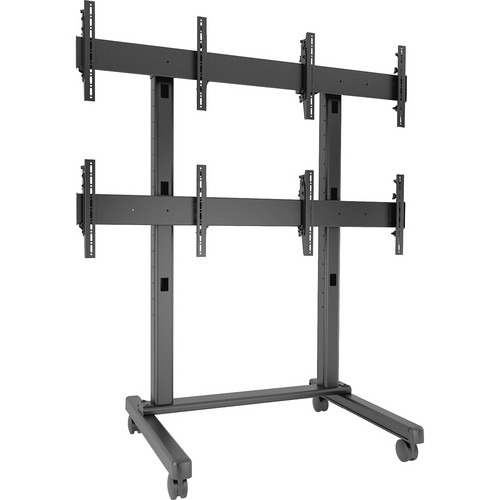 "Chief FUSION 2 x 2 Micro-Adjustable Large Freestanding Video Wall Cart for 42 to 50"" Screens (Black)"