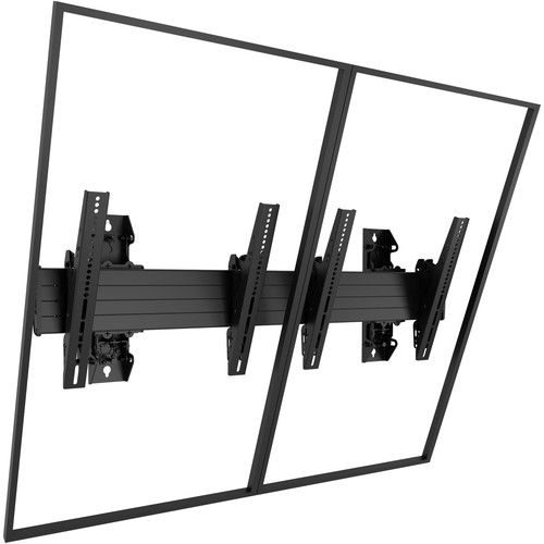 "Chief Fusion Large 2 x 1 Portrait Menu Board Wall Mount for 40-55"" Screens"