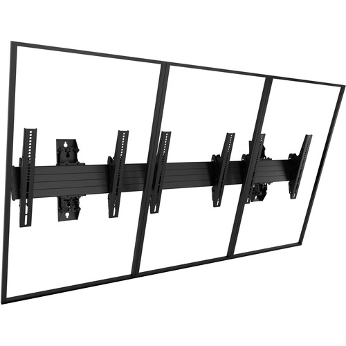 "Chief Fusion Large 3 x 1 Portrait Menu Board Wall Mount for 40-55"" Screens"