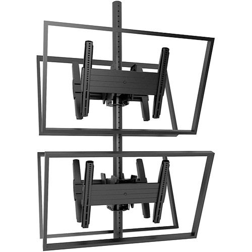 Chief MCB1X2U Fusion Medium Back-to-Back Stacked Ceiling Mount