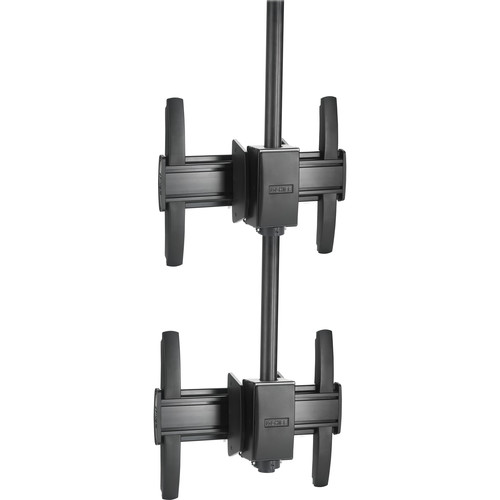 Chief FUSION Medium Ceiling Mountable 1 x 2 Stacking Kit (Black)