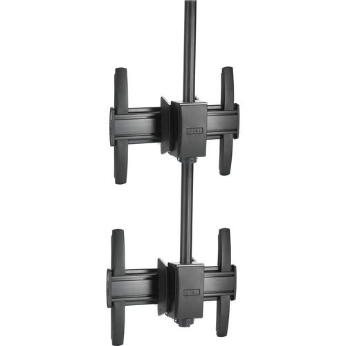 Chief FUSION Medium Ceiling Mountable 1 x 2 Stacking Kit (Black)