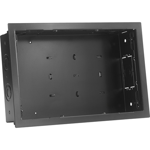 Chief PAC525FC In-Wall Storage Box with Flange and Cover (Black)