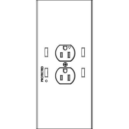 Chief PAC525 2-Plug In-Wall Retro Power Kit