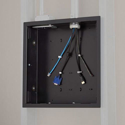 Chief PAC526F In-Wall Storage Box with Flange (Black)