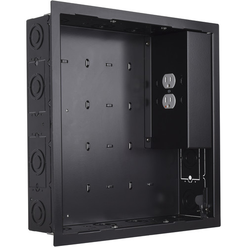 Chief PAC526 In-Wall Storage Box with 2-Receptacle Filter & Surge Protector (Black)