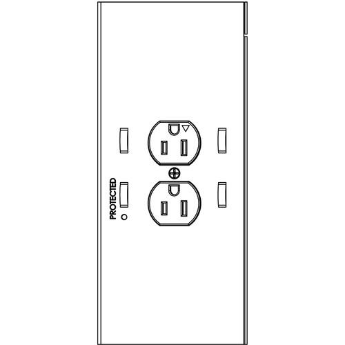 Chief PAC526 2-Plug In-Wall Retro Power Kit