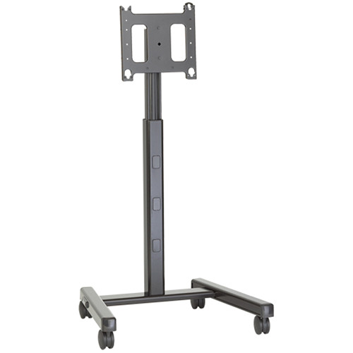 Chief Large Mobile A/V Cart (Black & Silver, TAA Compliant)