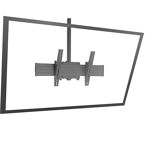 """Chief FUSION XCM1U Single Pole Flat Panel Ceiling Mount for 60 to 90"""" Displays (Black)"""