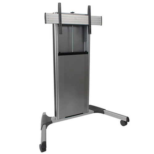 Chief X-Large FUSION Manual Height Adjustable Mobile Monitor Cart (Silver)