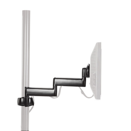 Chief Dual Arm Articulating Pole Mount (Black)