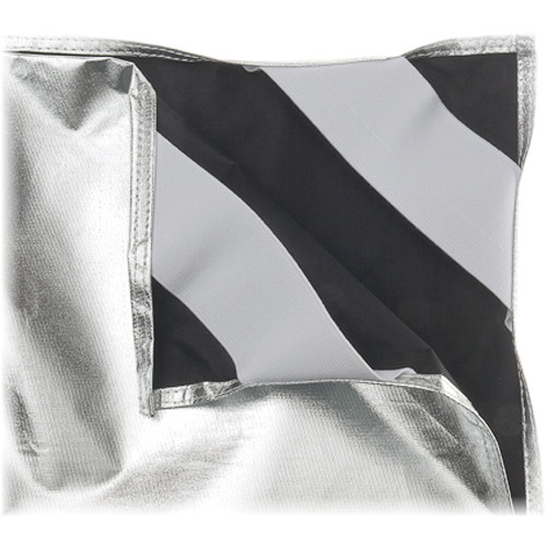 """Chimera Panel Fabric for Frame (Black/Silver, 42 x 82"""")"""