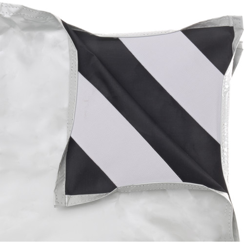 "Chimera Fabric for 48 x 72"" Panel Frame (White / Black)"