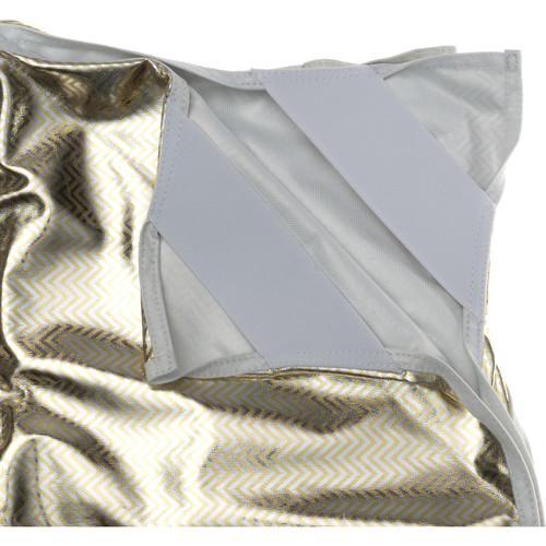 """Chimera Fabric for 48 x 72"""" Panel Frame (Silver & Gold Zebra)"""