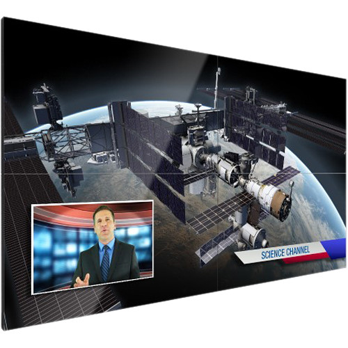 Christie Extreme-Narrow Bezel LCD Panel with Remote Power Supply and High Brightness