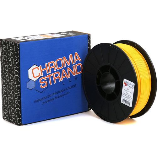 Chroma Strand Labs 3mm ABS Filament (1kg, Yellow)