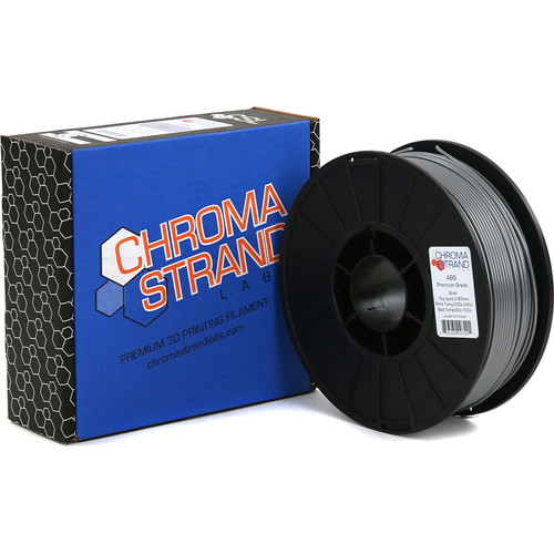 Chroma Strand Labs 3mm ABS Filament (1kg, Silver)
