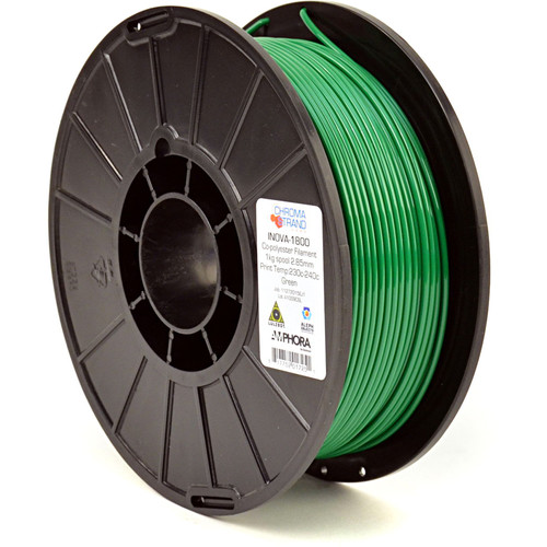 Chroma Strand Labs 3mm INOVA-1800 Filament (1 kg, Green)