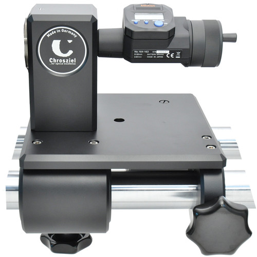 Chrosziel Digital Micrometer Head Mounted on Holding Block & Sliding Platform