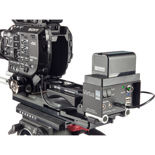 Chrosziel LWS Baseplate for Sony FS5 with Virtus Mini Power Distribution Box