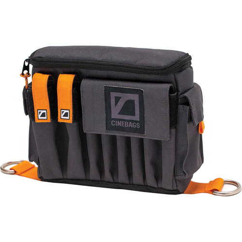 CineBags CB07 AC Pouch XL (Gray with Orange Webbing)