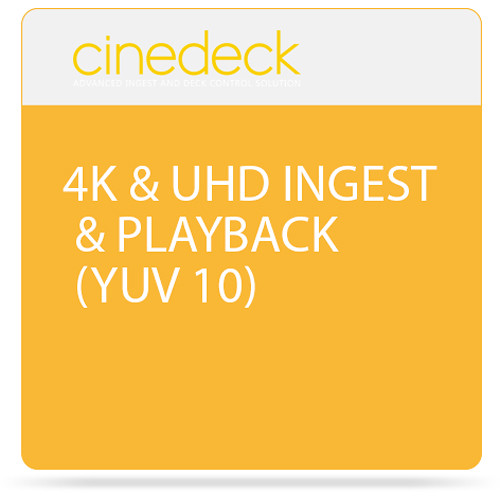 Cinedeck 4K & UHD Ingest & Playback Option for ZX45 & ZX40 Recorders