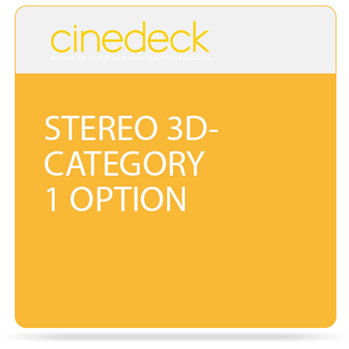Cinedeck Stereo 3D Category 1 Option for ZX / MX / RX3G Systems