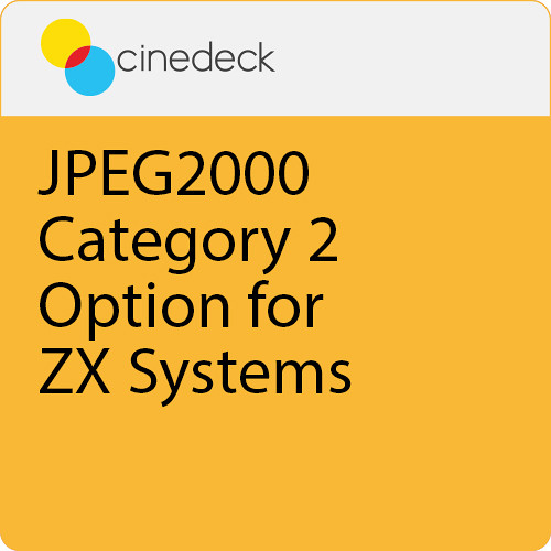 Cinedeck JPEG2000 Category 2 Option for ZX Systems
