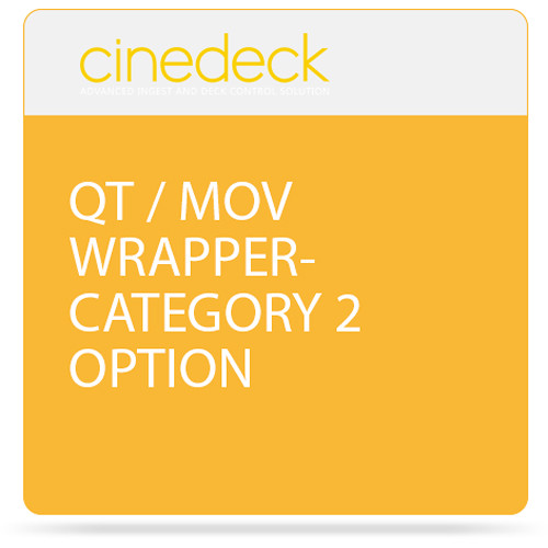 Cinedeck QT / MOV Wrapper Category 2 Option for ZX Systems