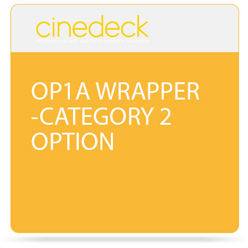 Cinedeck Op1A Wrapper Category 2 Option for ZX Systems