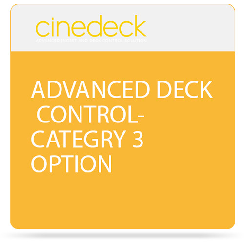 Cinedeck Advanced Deck Control Category 3 Option for ZX Systems