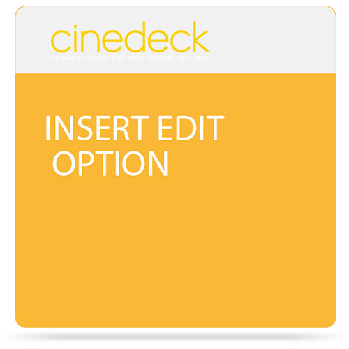 Cinedeck Insert Edit Option for ZX Systems