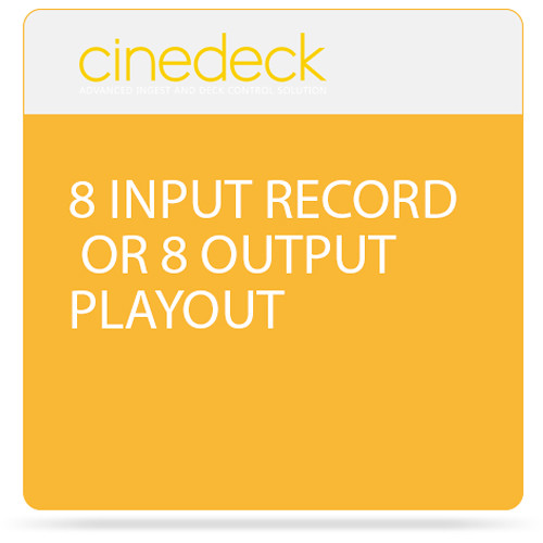 Cinedeck 8 Input Record or 8 Output Playout Option for ZX Systems