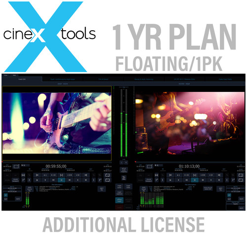 Cinedeck cineXtools 1-Year Floating Subscription - Additional Licences