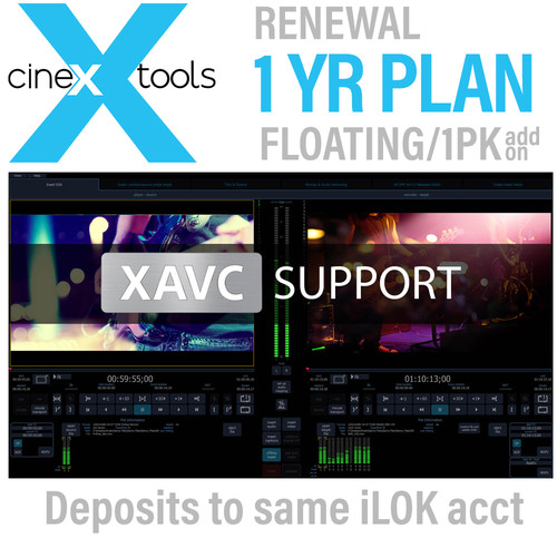 Cinedeck AVC/AS11 Annual Floating Subscription Renewal - AVC/XAVC Codec Support with AS11