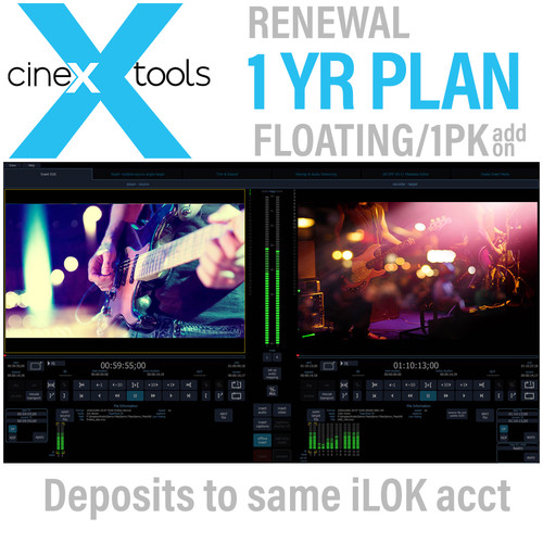 Cinedeck cineXtools Annual Floating Subscription Renewal - Additional Licences