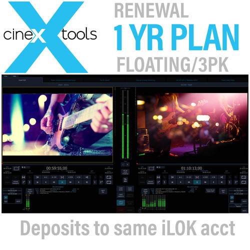 Cinedeck cineXtools Annual Floating Subscription Renewal - cineXtools Insert Editor - 3 Licences
