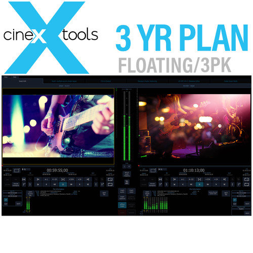 Cinedeck cineXtools 3-Year Floating Subscription - cineXtools Insert Editor - 3 Licences