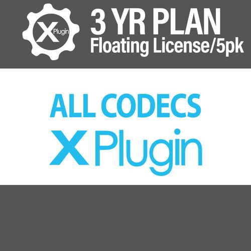 Cinedeck All Codecs 3-Year Subscription -Floating (5-Seat Minimum)
